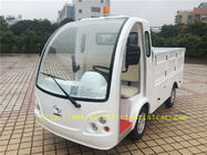 Factory Use 2 Seater Electric Car , White Electric Tour Bus 48v/4kw F092